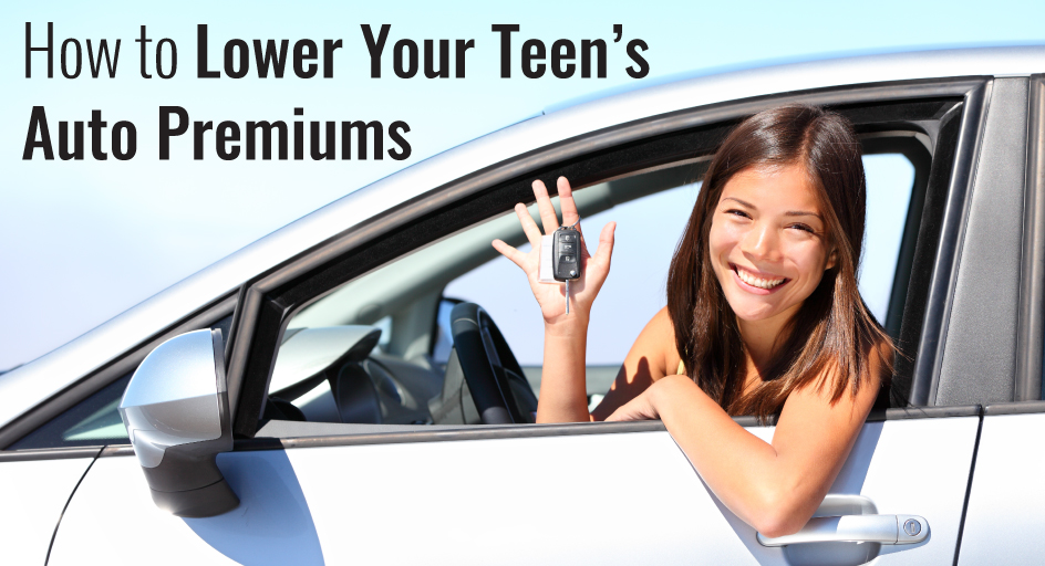 blog image of a teenage driver; blog title: How to Lower Your Teen's Auto Premiums